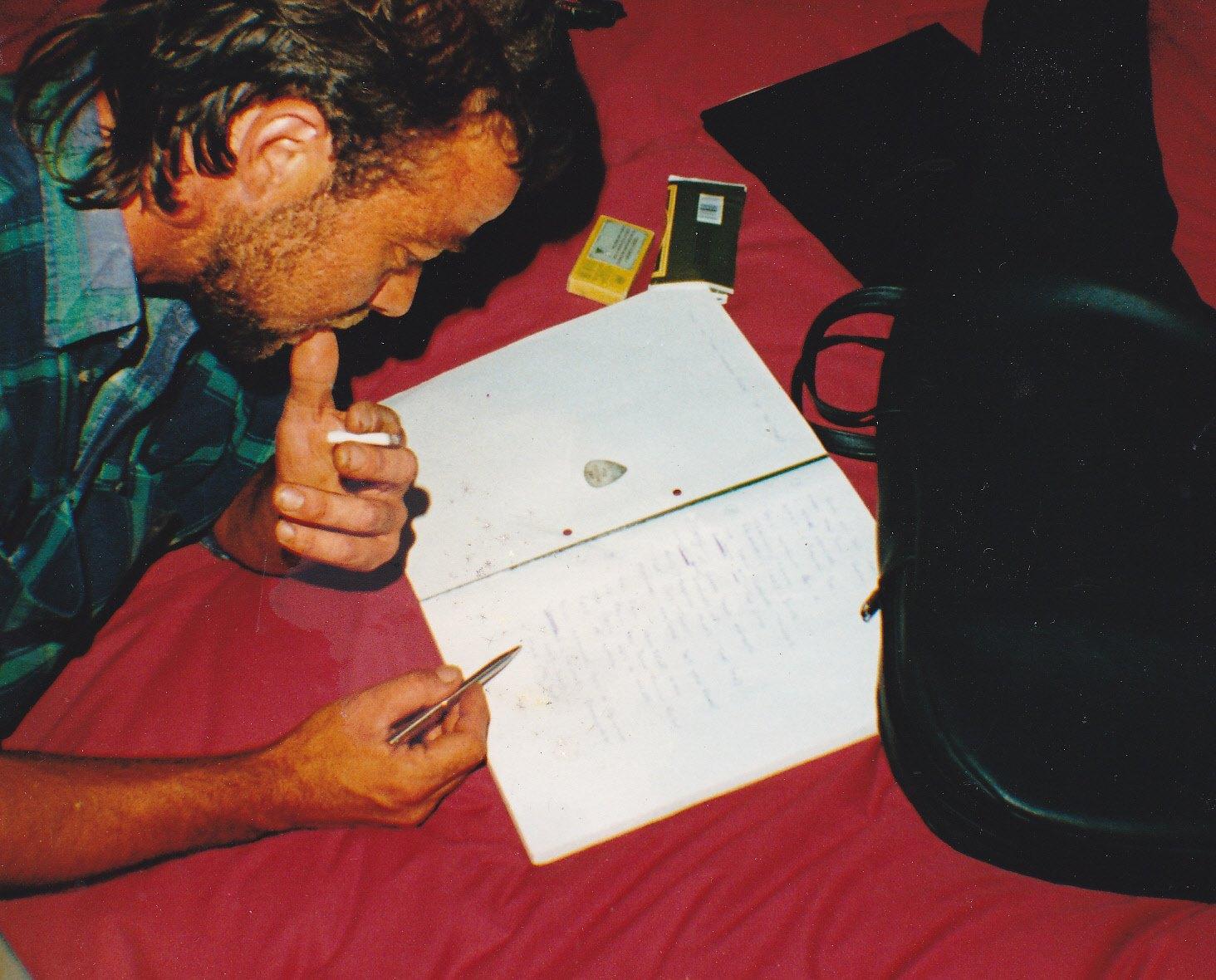Chris writes a song